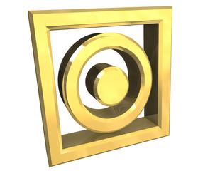 simbolo lavaggio in oro tumble dry washing symbol