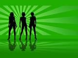 radiate model green poster