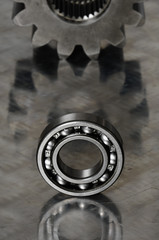 bearing with mirrored background