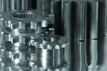 gears in metallic cast