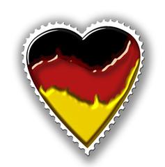 herz briefmarke deutschland flagge