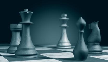 jeu d'échec stratégie de positionnement