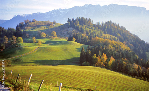 landscape panorama of the alps