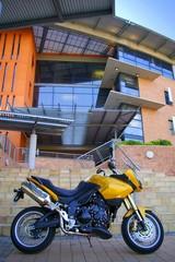 gold motorbike
