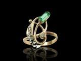 golden emerald ring poster