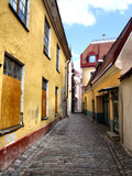 picturesque old town - tallinn in estonia poster