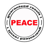 stamp with -peace- word poster