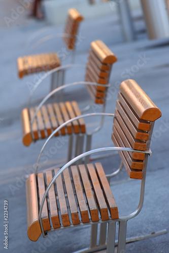 modern designed bench