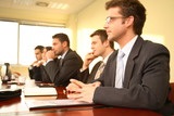 Fototapety conference, group of five business people
