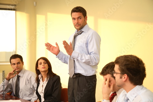 informal business meeting - boss speech - 2235104