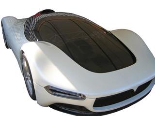 white concept car