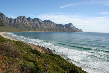 view of coast near cape point, south africa