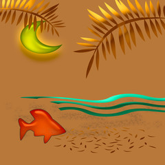 tropic sunset art