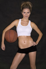 fit blond basketball model