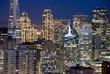 san francisco financial district buildings (nightt