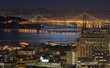 san francisco bay bridge under moonlight