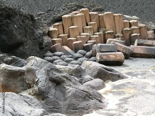 giant stones, steps