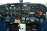 cockpit of a private aircraft poster