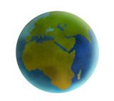 globe africa rendered 07 poster