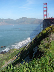 golden gate bridge, ocean beach