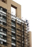 highrise scaffolding poster