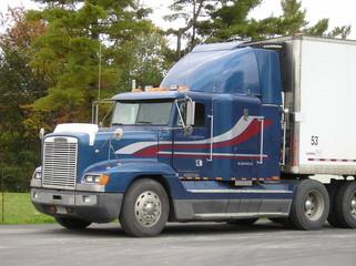 blue frightliner truck