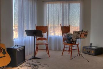 music practice area