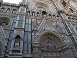 details on a cathedral in florence, italy poster
