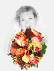 artistic bridal bouquet