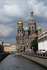 church of our savior on the spilled blood sainct petersburg russ