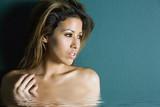 sexy hispanic woman in spa poster