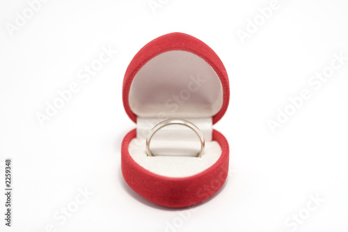 ring in present box