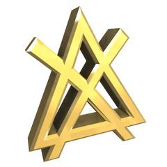 simbolo non mettere in asciugatrice in oro