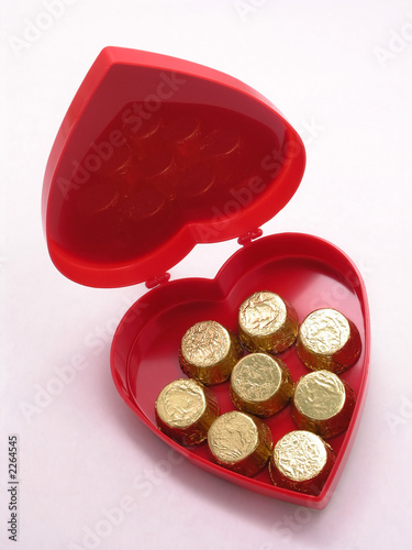 valentines candy box - open