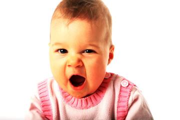 müdes baby, gähnen, süss