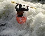 kayak on the rapids poster