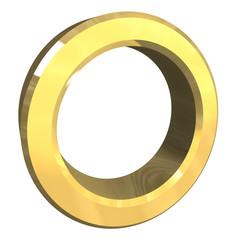 simbolo cerchio  in oro
