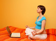 happy pregnancy - pregnant woman: internet, book,