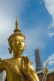 welcome to bangkok - kinnari statue at wat phra kaew poster