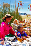 young girl of lake titicaca
