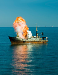 explosion of the ship