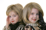 twin glamour models with wigs