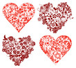 Quadro valentine background, hearts