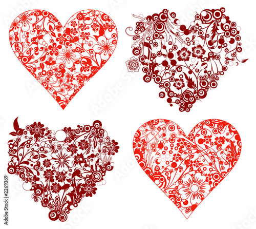 valentine background, hearts