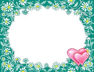 stock image of valentine's day frame