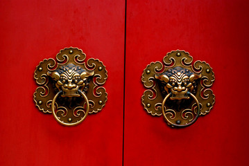 chinese gate door nob