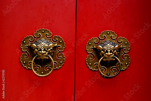 chinese gate door nob