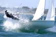 canvas print picture - sailing woman 01