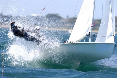 canvas print picture sailing woman 01