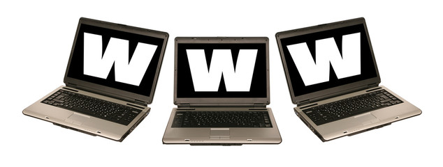 laptop and www